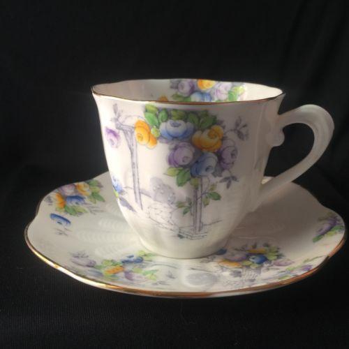 Royal Alpert Vintage Crown China teacup Set – Numbered Edition