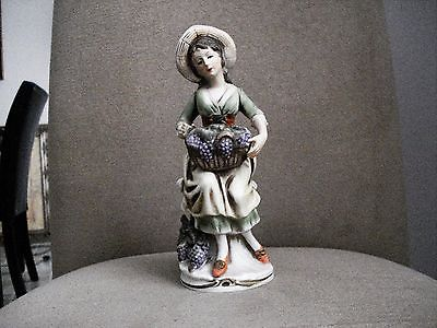 Homco Porcelain Figurine ''Grape Harvest'' #1258