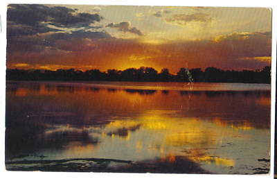 Lake sunset  Trianon Restaurant  Monroe Louisiana  chrome used  1953