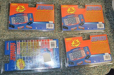 NEW LOT OF 4 JEOPARDY! TIGER ELECTRONIC GAME CARTRIDGES & BOOKS # 3, 4, 5, 6