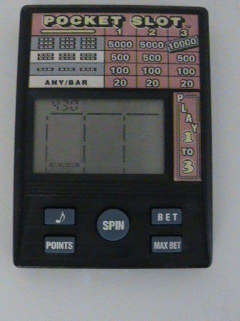 Pocket Slot Handheld Video Game Machine Radica