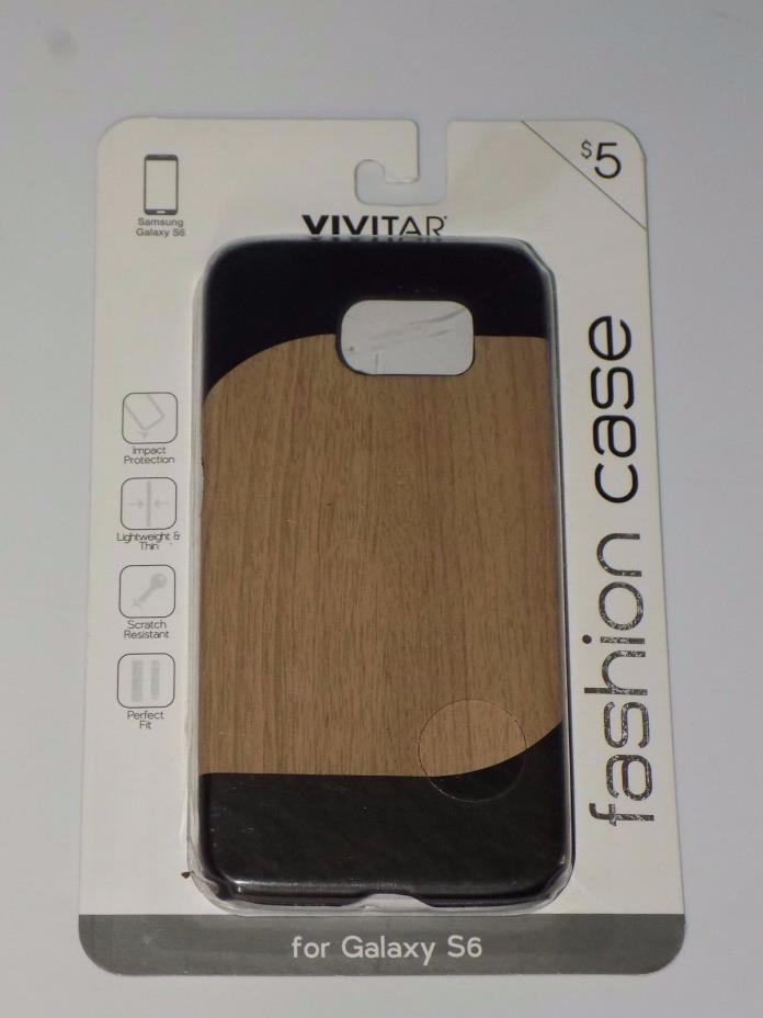 Vivitar Fashion Case For Galaxy S6, Wood Design  -  NIP (j817)