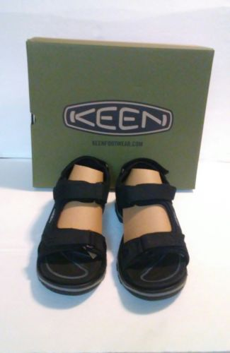 Keen Men's Rialto 3 Point Size 8 Fashion Sandals - Black/Neutral Gray