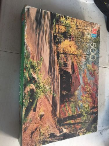 Albany Bridge Kancamagus Hwy., NH MB Croxley 500 Pc Jigsaw Puzzle Sealed 13x19