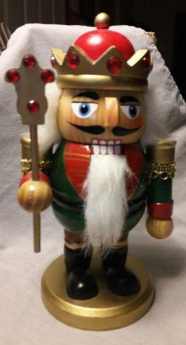 Wooden Majestic King Nutcracker Figurine~~7