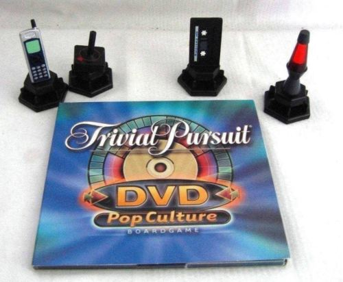 TRIVIAL PURSUIT POP CULTURE REPLACEMENT DVD AND TOKENS