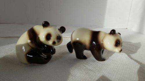 Pair of Vintage GOEBEL PANDA Figurines 36 005