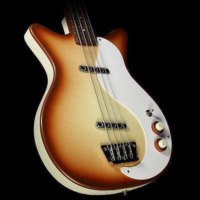 Danelectro '59 DC Long Scale Electric Bass Copper Burst