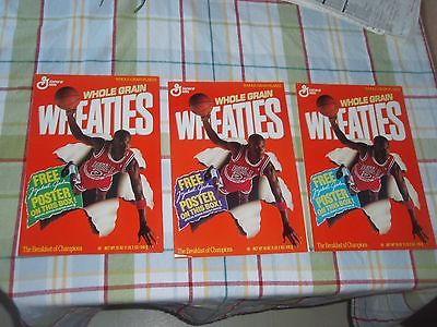 Michael Jordan Basketball NBA Chicago Bulls   Wheaties 3 Part Poster 1989