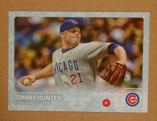 2015 TOPPS UPDATE SNOW CAMO #US143 TOMMY HUNTER #'D 84/99
