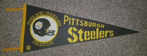Vintage NFL Pittsburgh Steelers Super Bowl Winners IX-X-XIII-XIV  Pennant - 30