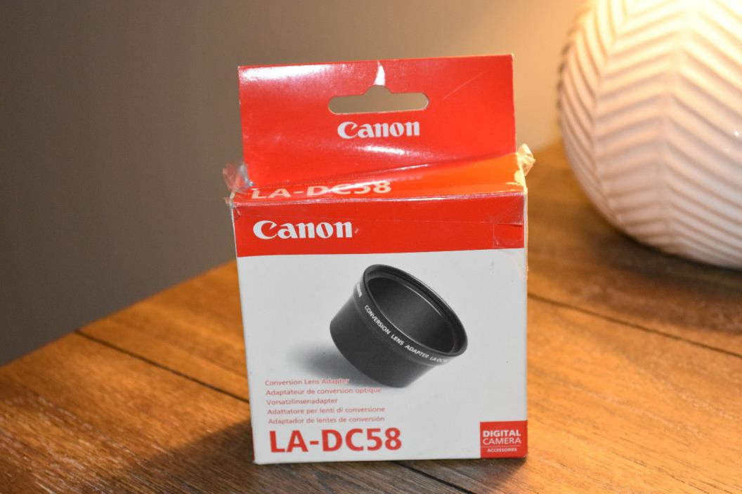 Genuine Canon LA-DC58 58mm Lens Adapter For PowerShot G1 & G2 Cameras