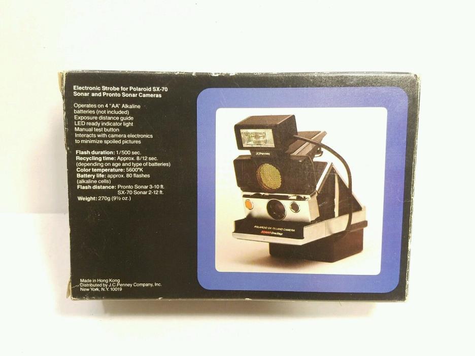 Polaroid SX-70 Electronic Strobe Vintage NEW JC Penny Pronto Sonar Cameras