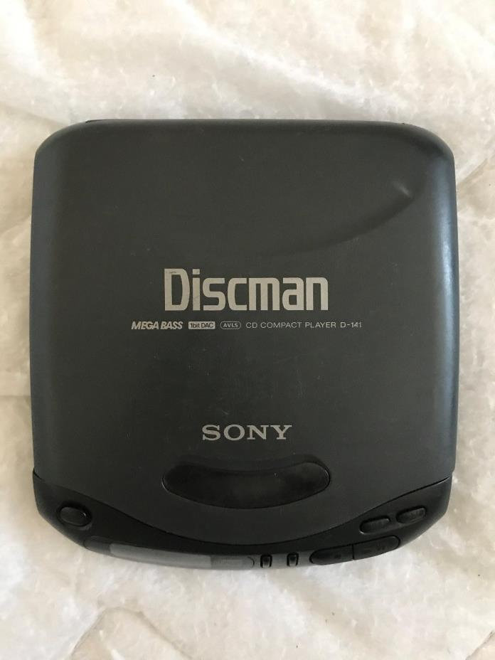Sony D-141 Discman Compact Disc Player For Parts Or Repair Not Tested