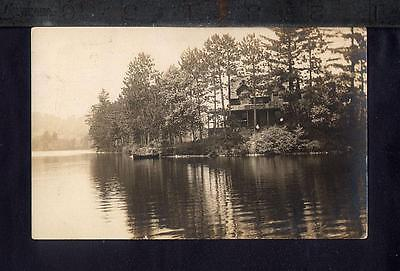 1915 Woodstock BRYANT POND MAINE Real Photo Postcard RPPC Pine Point Cottage