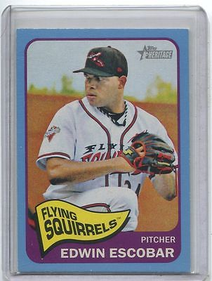 2014 Topps Heritage Minors BLUE Edwin Escobar 1/1 Richmond Flying Squirrels