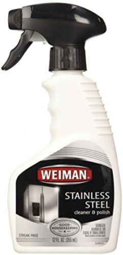 Weiman Stainless Steel Cleaner and Polish Trigger Spray, 12 Oz-2 Pk