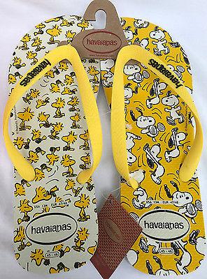 Havaianas Woodstock Snoopy 4132617 Wht Citrus Beach Flip-Flops Sandals Men's 13