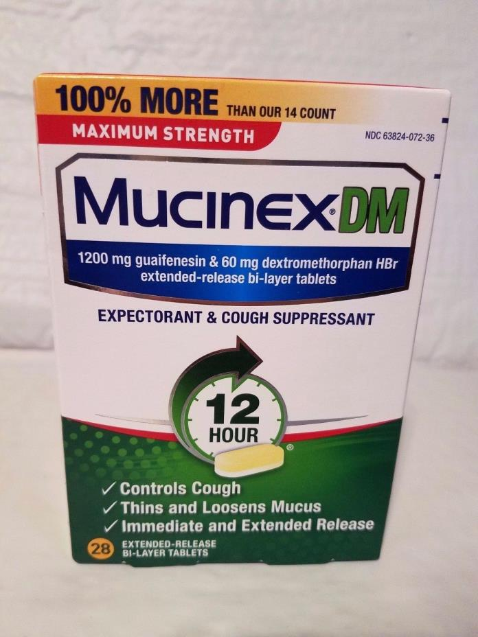 Mucinex Dm Extended-Release Bi-Layer 28 Tablets 05/2019 FREE SHIPPING NEW