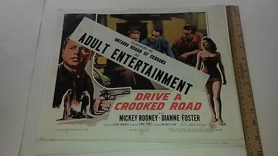 1954 MOVIE LOBBY CARD #4-1889 DRIVE A CROOKED ROAD - MICKEY ROONEY