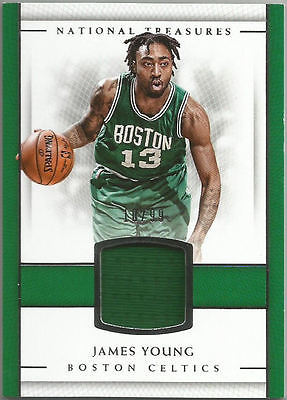 2016-17 National Treasures Material Jersey JAMES YOUNG #25 #10/99 Boston Celtics