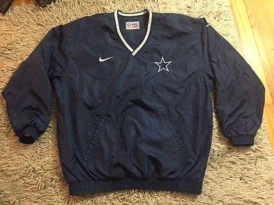 Dallas Cowboys VTG 90s Nike Pro Line Navy Reversible Windbreaker Jacket Men