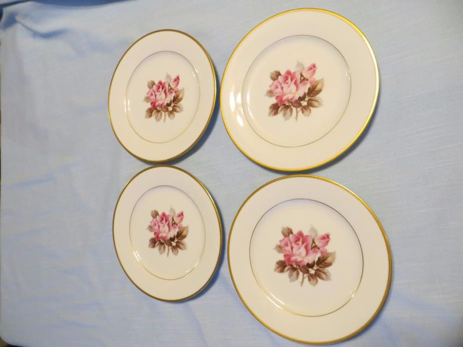 Vintage Noritake China Rosetta (M)Set of 4 Salad Plates 7 1/2