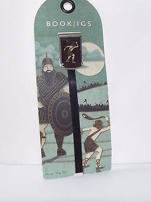 Bookjigs Ribbon Bookmark Neat David And Goliath Greek Art Style NEW Gazinga
