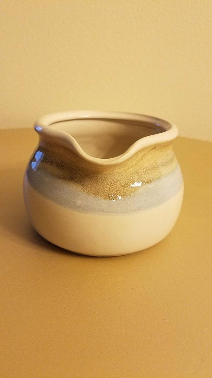 Noritake Painted Desert Gravy Boat Stoneware 8603 Cream/Blue/Tan
