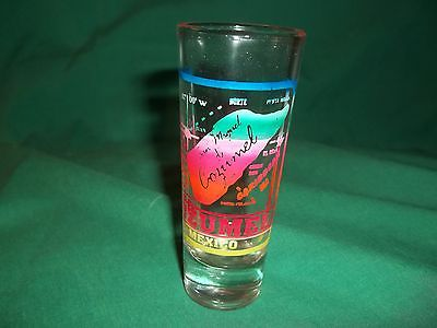 COZUMEL  MEXICO ~  SAN MIGUEL DE CORZUMEL    ~  TALL SHOT GLASS