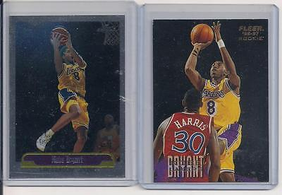 Kobe Bryant Fleer Rookie #203 and Topps Chrome #125 plus BONUS!