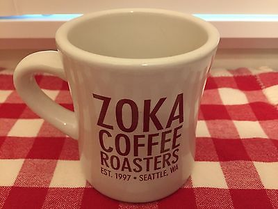Zoka Coffee Roasters Seattle Est.1997  Heavy Restaurant Mug  Probat Graphics VGC