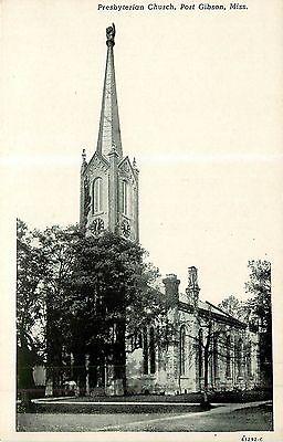 Mississippi, MS, Port Gibson, Presbyterian Church Postcard