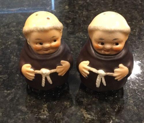 Goebel Hummel Friar Tuck Monk Salt & Pepper Shakers TKM 3