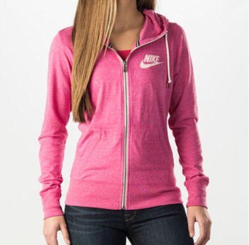 Nike Heathered Pink Vintage Zip Up Hoodie Gym Size XS *READ