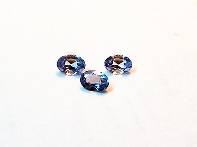 beautiful -3-sky blue topaz 7x5 oval faceted good color match  carat 2.30 total
