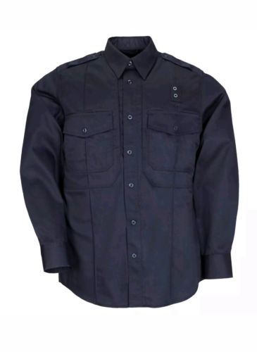 5.11 Tactical Series Men's A/B : Long Sleeve Shirt Midnight Navy 2XL #42147