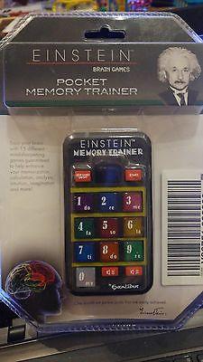 EINSTEIN BRAIN GAMES POCKET MEMORY TRAINER HANDHELD ELECTRONIC GAME NEW!