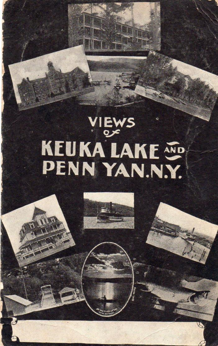 10 views Penn Yan, & Keuka Lake, NY (New York) postcard unused undivided back