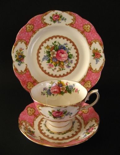 Royal Albert LADY CARLYLE trio, FREE SHIPPING