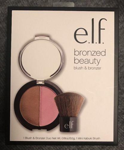 E.L.F. Bronzed Beauty BLUSH & BRONZER SET - DUO WITH MINI KABUKI BRUSH