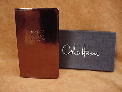 Cole Haan Writing Journal lined Notebook Office Penny for your thoughts GIFT 5""