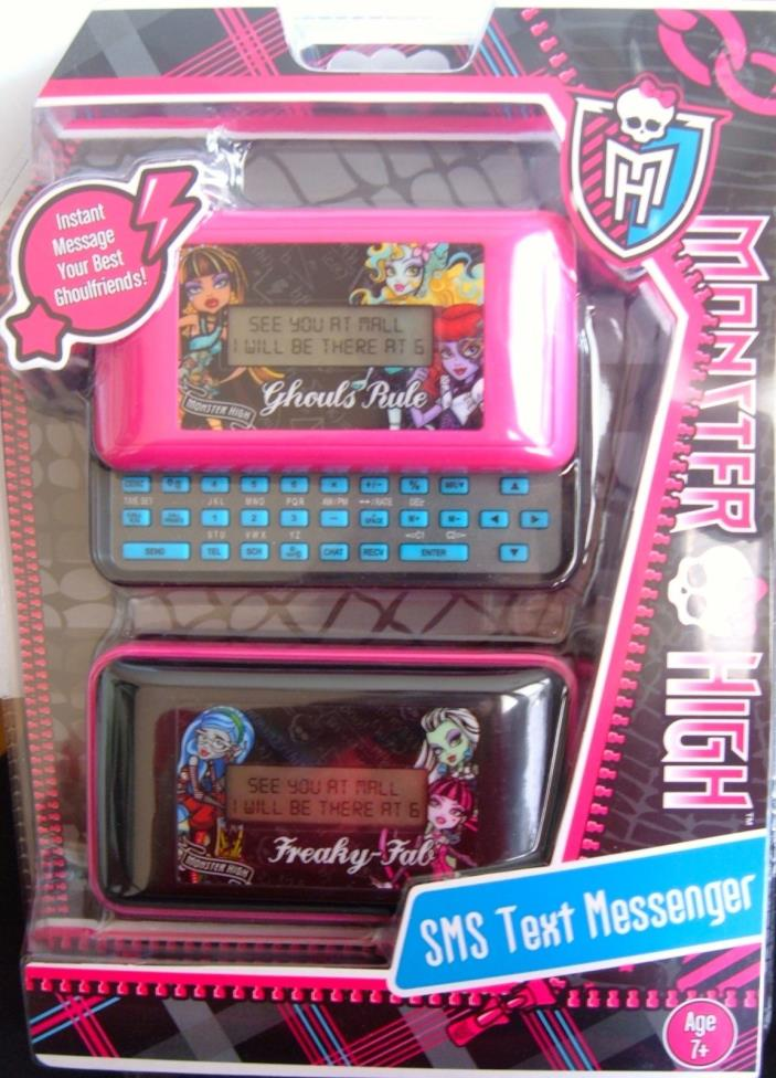New Monster High Slide and Text Messenger 79048 SMS Databank Phone Address Alarm