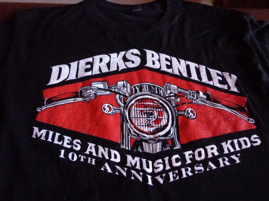 DIERKS BENTLEY 2011 Miles And Music For Kids Concert T-SHIRT Large Country R2