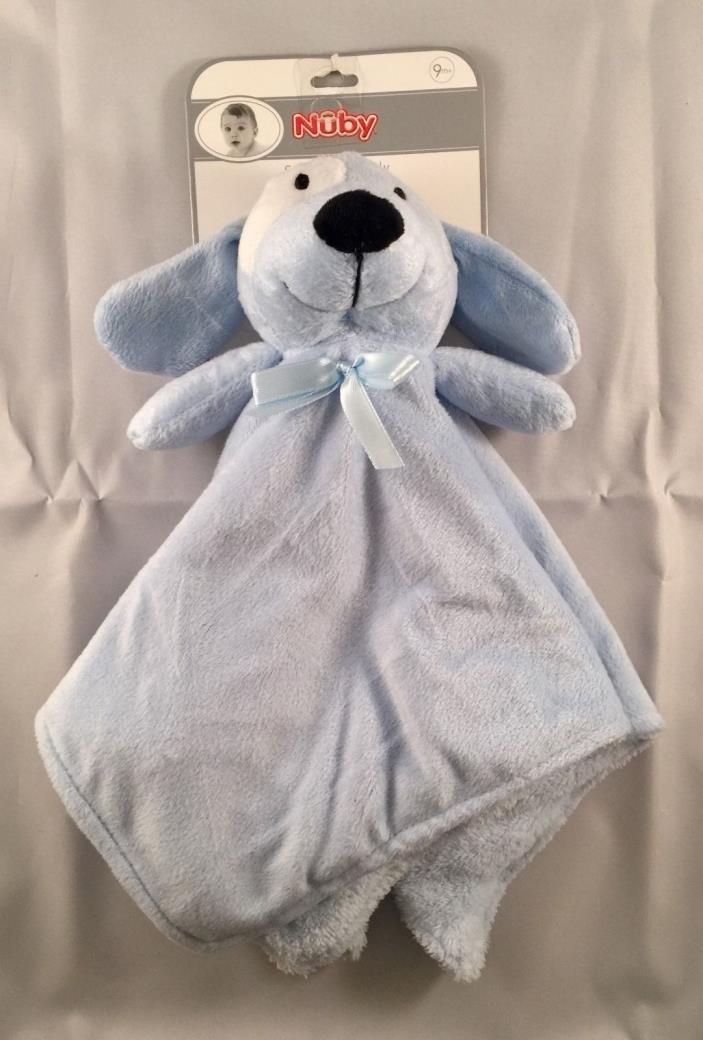 Nuby Security Buddy Blanket Blue Puppy Dog NWT