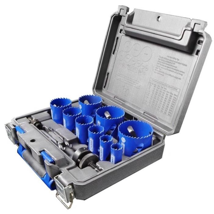Kobalt Metal Hole Saw Kit w/ Hard Case: Wood, Aluminum, Wood, Drywall, Plastic