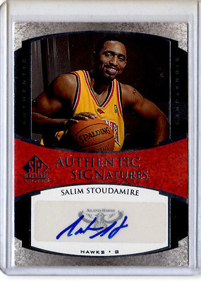 Salim Stoudamire        Authentic Signatures  auto card