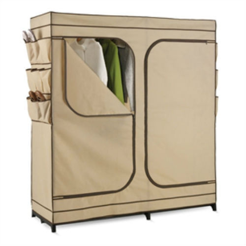 Portable Clothes Closet For Seasonal Storage Shoe Storage Protects From Dust New