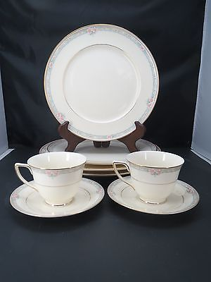 8 Mikasa La Rose Dinner Plates Chargers Cups Saucers Fine China LAC75 Japan E2
