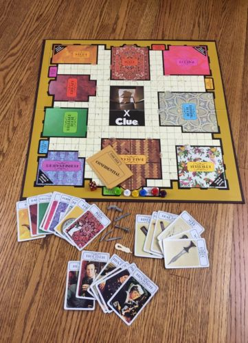 Clue Board Game Classic Detective 1972 Parker Brothers Replacement Parts Pieces